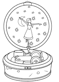 Ballerina Music Box Coloring Page Free Printable Coloring Pages Box Coloring Pages