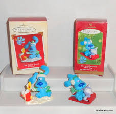 hallmark blues clues christmas ornament set lot 2001 2002