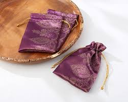 purple wedding theme amethyst jewel favor bags purple wedding