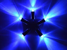 5 x blue single led battery powered lights waterproof string led