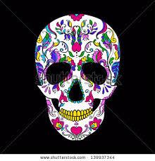 vector colorful sugar skull day dead stock vector 139937344