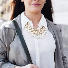 necklace shirt images 20 ways to wear statement necklaces jpg