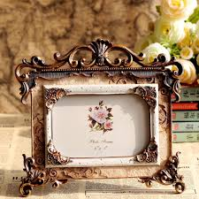 retro style craving rose resin photo frame picture frame wedding