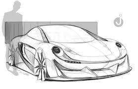 porsche concept sketch automotivedesign hashtag on twitter