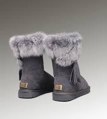 ugg sale grey ugg mini bailey bow boots ugg fox fur boots 2894 grey