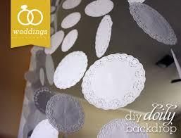 wedding backdrop diy diy doily wedding backdrop banner hearts