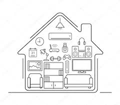 modern home interior icons u2014 stock vector bsd 86485808