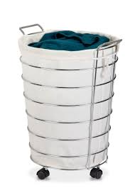 stainless steel laundry hamper mobile stainless steel foding laundry basket cart with wheels and