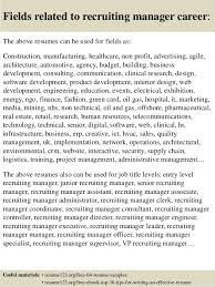 recruiting manager resume template marketing services for make money by selling your