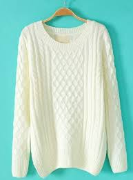 white sweater white batwing sleeve cable knit sweater abaday com