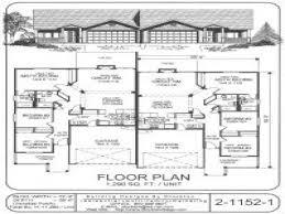 Duplex Blueprints Floor Duplex Floor Plans Single Story