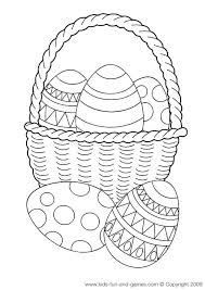 easter basket with eggs coloring page 37 best easter for coloring wielkanocne kolorowanki images on