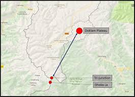 Map Of India And China by Doklam Plateau U2013 India Bhutan And China Stand Off Bharat Sentinel