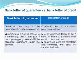 irrevocable standby letter of credit vs bank guarantee the best