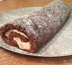 chocolate swiss roll with baileys cream bakearama