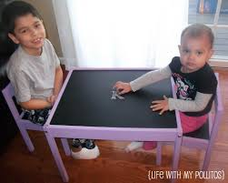 ikea kiddie table hack