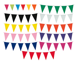 International Bunting Flags 10m 20 Flags Colour Bunting Flags Pennants Party Decorations