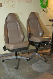 car seat office chair ideas how to make old car seat office