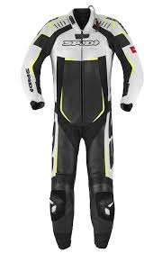motorcycle leather suit track perforated pro leather suit spidi