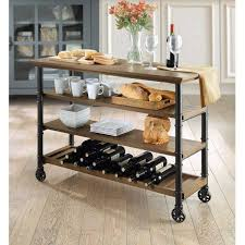 rustic kitchen islands and carts kitchen ideas kitchen island with seating for lovely rustic cart
