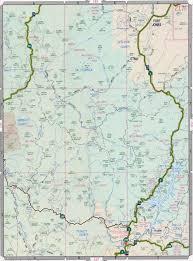 California Road Map Siskiyou Road