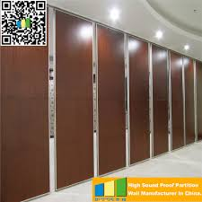 powder coated movable wooden partition walls acoustic soundproof
