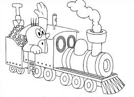 sketch of steam train colouring page sketch of steam train