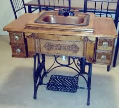 Woodworking Machines For Sale Ebay by Antique Treadle Sewing Machine Vanity Bathroom Sink Ebay I Want