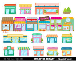 houses clip art set houses clipart cute houses
