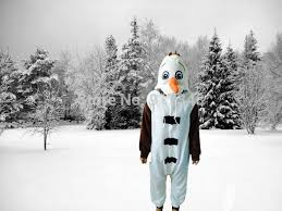 Olaf Costume Aliexpress Com Buy Olaf Costume Onesies Pajamas Jumpsuit Hoodies