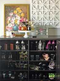 Black Closet Design Closet Shoe Shelf Design Made From Brown Veneered Plywood With