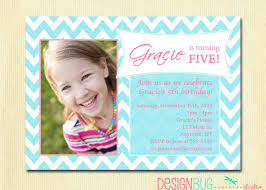 Halloween Birthday Invitation Wording by Girls Birthday Party Photo Invitation Printable Chevron