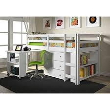 white loft bed with desk white loft beds with desk amazon com