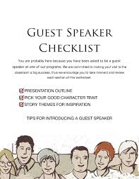 Character Trait Worksheet Guest Speaker Worksheet By Junior Police Academy Issuu