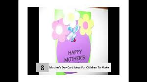 10 easy ideas for mother u0027s day cards for children to make youtube
