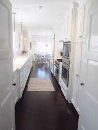 Very Small Galley Kitchen Ideas Kitchen Cabinets White Cabinets Gray Granite Countertops Very