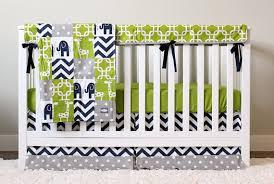 Green Elephant Crib Bedding Elephant Nursery Bedding Set Giraffe Crib Bedding Navy Blue