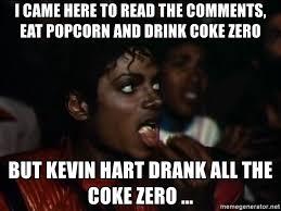 Pop Corn Meme - kevin hart eating popcorn meme mne vse pohuj
