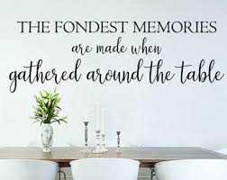 Wall Decals For Dining Room Kitchen Decals Etsy