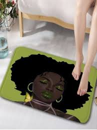 Water Absorbing Carpet by Green W16 Inch L24 Inch Afro Hair Beauty Skidproof Water