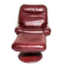 Leather Swivel Chair Vintage De Sede Of Switzerland Leather Swivel Chair With Ottoman