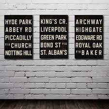 Home Decor London by London Subway Art Typography Print Olympics City Map Poster