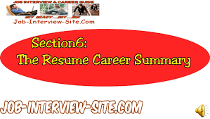 Resume Job Summary by Resume Career Summary How To Write A Career Summary On Your