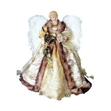 shop santa u0027s workshop 16 in antique gold angel christmas tree