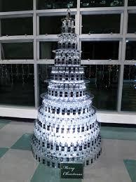 glass bottle christmas tree christmas lights decoration