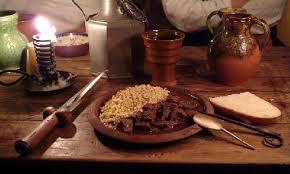 ag e de cuisine exemple type de menu repas médiéval avec recettes et boissons de