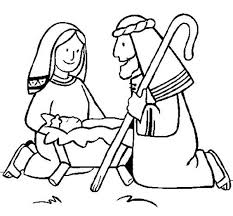 jesus lay manger bible christmas story coloring pages
