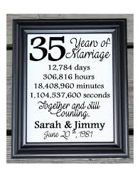 35th wedding anniversary gifts 35th wedding anniversary cotton print 35th wedding gift 35 35th