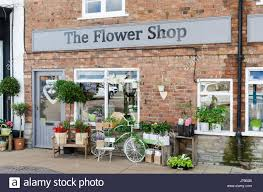 florists in the flower shop florists in rother stratford upon avon stock
