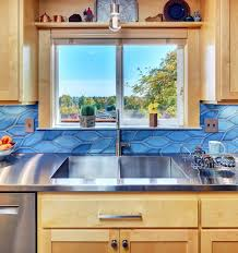 blue maple cabinets kitchen a vibrant kitchen in corvallis powell construction